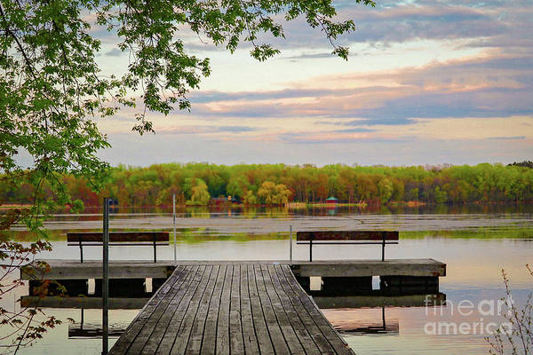 Photograph - Sunset On The Lake by Susan Rydberg