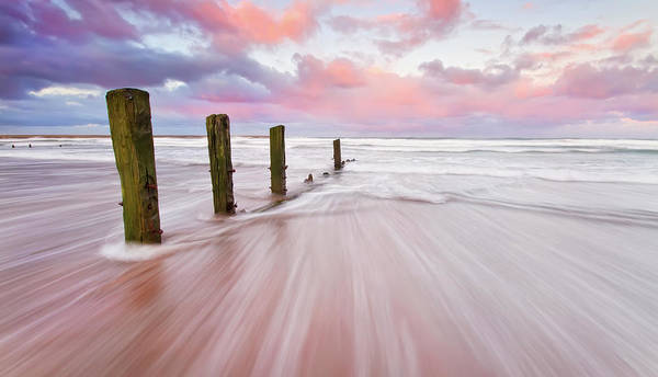 Berwick Upon Tweed Photograph - Sunset On The Old Jetty by Bluefinart
