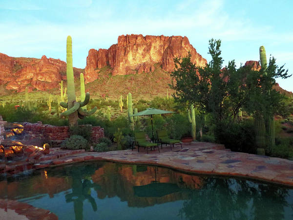 Photograph - Sunset On The Superstition Mountains by Rick Locke