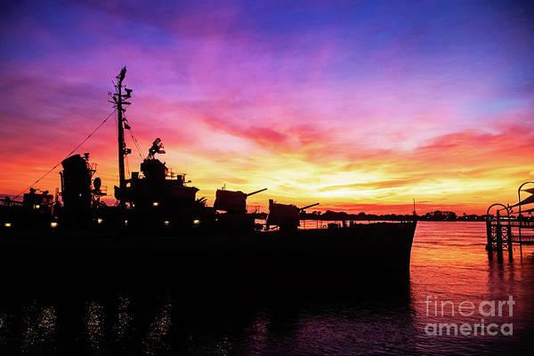 Wall Art - Photograph - Sunset On The Uss Kidd - Baton Rouge, Louisiana by Scott Pellegrin