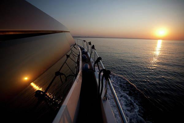 Luxury Yacht Photograph - Sunset On Yacht Window by Dogayusufdokdok