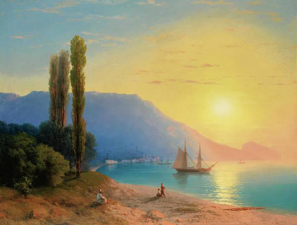 Wall Art - Painting - Sunset On Yalta by Ivan Aivazovsky