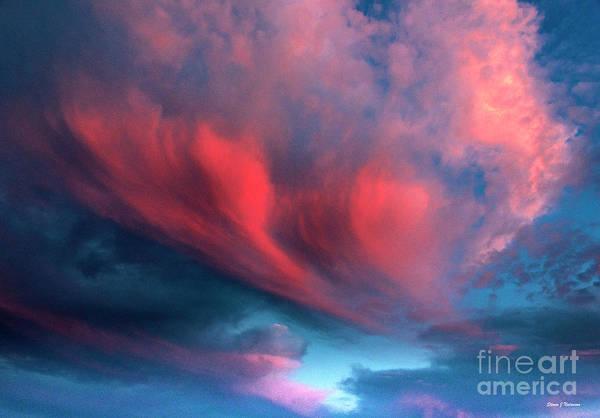 Photograph - Sunset Ortiz Clouds 3 by Steven Natanson