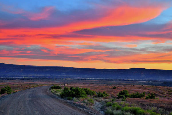 Photograph - Sunset Over 27 1/4 Road In Book Cliffs Desert by Ray Mathis