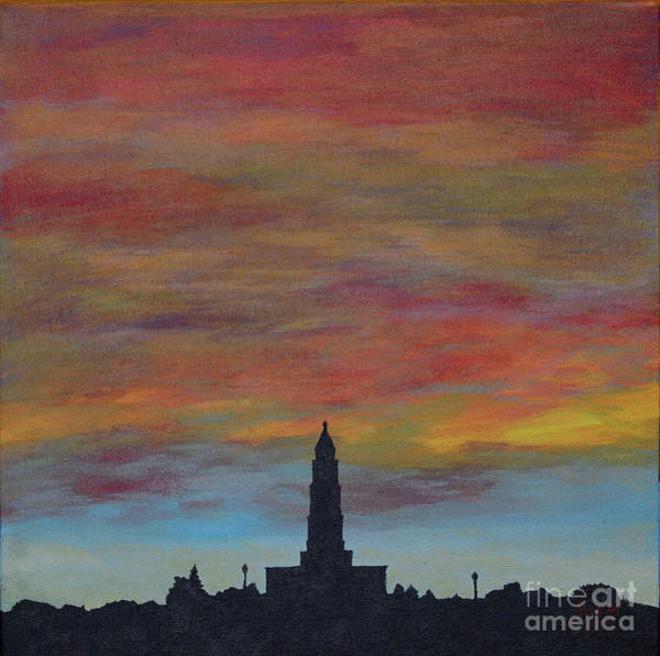 Wall Art - Painting - Sunset Over Alexandria by Aicy Karbstein