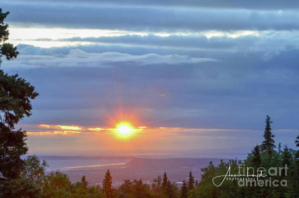 Wall Art - Photograph - Sunset Over Anchorage by Ann Loyd