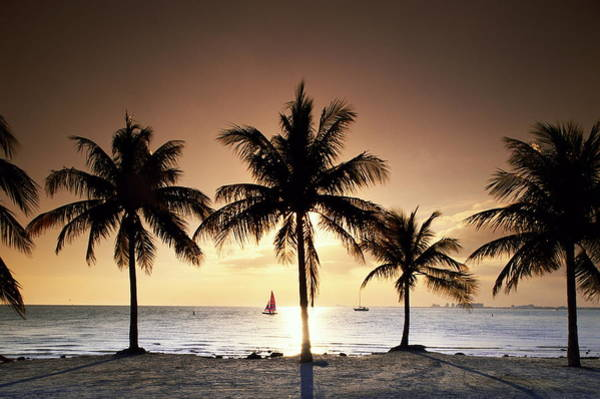 Key Biscayne Photograph - Sunset Over Beach At Key Biscayne by Buena Vista Images