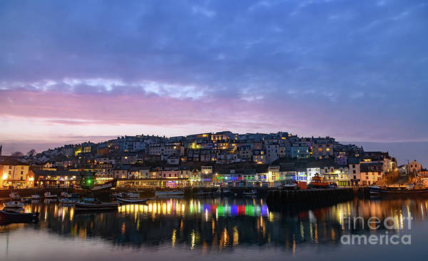 Photograph - Sunset Over Brixham, Devon. by Colin Rayner