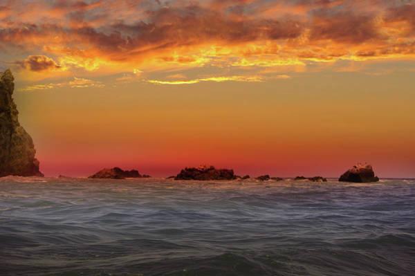 Wall Art - Photograph - Sunset Over Catalina Island by Art Spectrum
