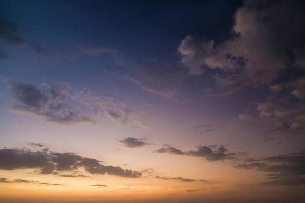Sunset Over Cloudy Sky Art Print