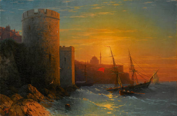 Painting - Sunset Over Constantinople by Ivan Konstantinovich Aivazovsky