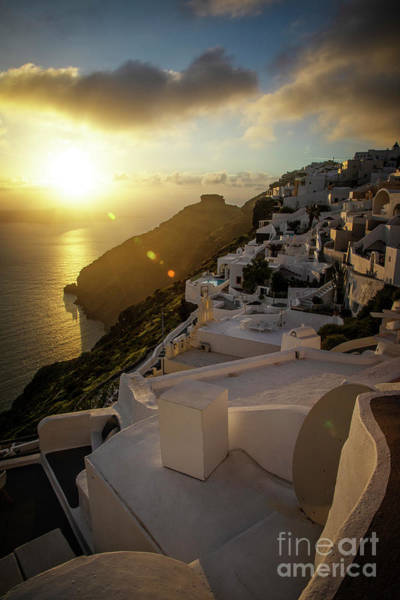 Photograph - Sunset Over Firostefani by Scott Kemper