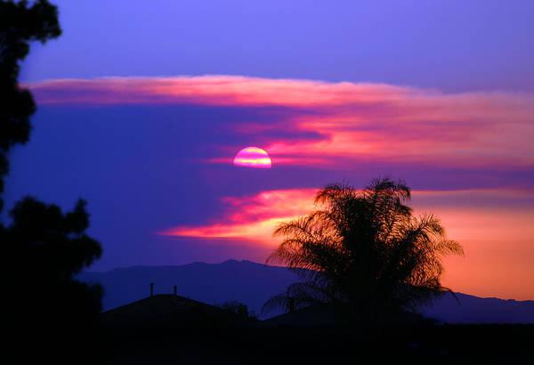 Photograph - Sunset Over Hemet by Anthony Jones