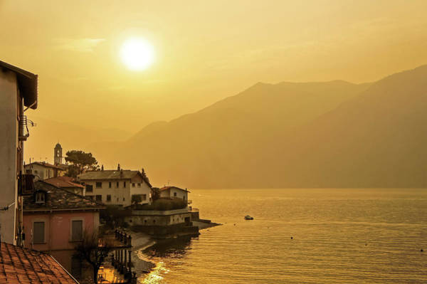 Photograph - Sunset Over Lake Como, Italy by Dawn Richards