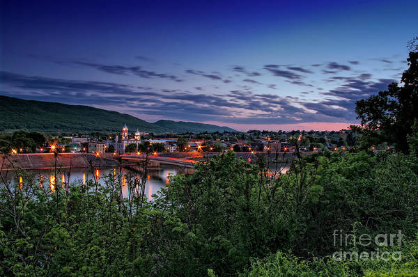 Lock Haven Wall Art - Photograph - Sunset Over Lock Haven Pa by Arttography LLC