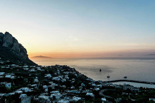 Sunset Over Marina Grande, Capri Art Print