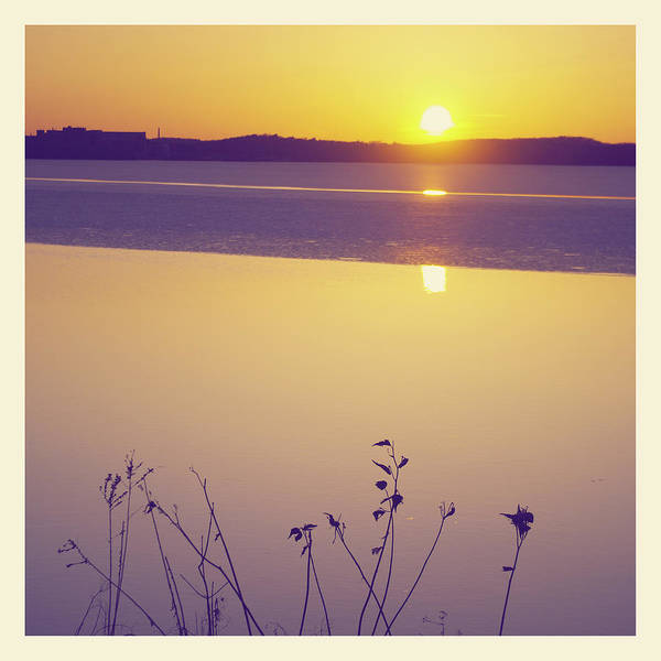 Wall Art - Photograph - Sunset Over Melting Lake by Photography By Jessie Reeder