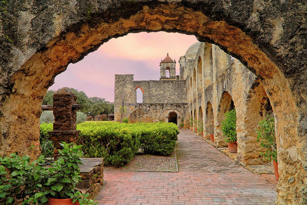 Photograph - Sunset Over Mission San Jose - San Antonio Texas - Catholic Mission by Jason Politte