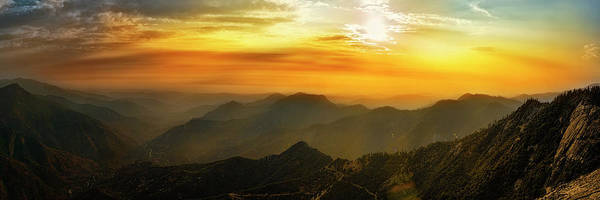 Wall Art - Photograph - Sunset Over Mountains Seen From Moro by Panoramic Images