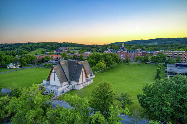 Photograph - Sunset Over Norton Chapel by Ants Drone Photography