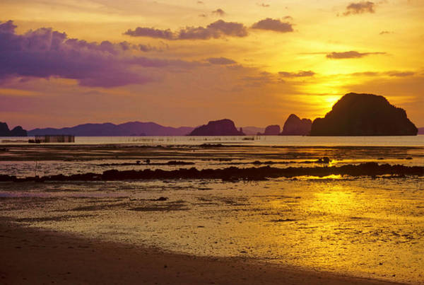 Fish Trap Photograph - Sunset Over Phangnga Bay by Photoviewplus