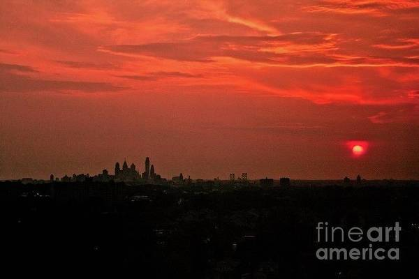 Photograph - Sunset Over Philly by Jim Lepard