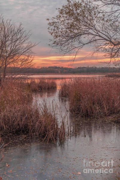 Photograph - Sunset Over Purgatory Creek In Autumn by Susan Rydberg