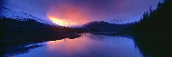 Gulf Of Alaska Photograph - Sunset Over Resurrection River And Exit by Visionsofamerica/joe Sohm