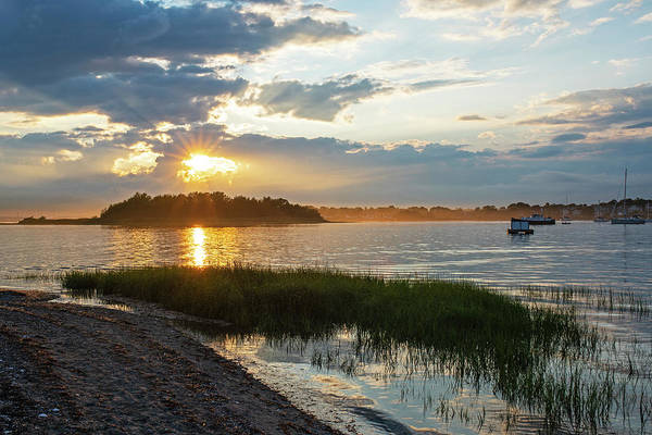 Photograph - Sunset Over Snake Island In Winthrop Ma From Coughlin Park by Toby McGuire