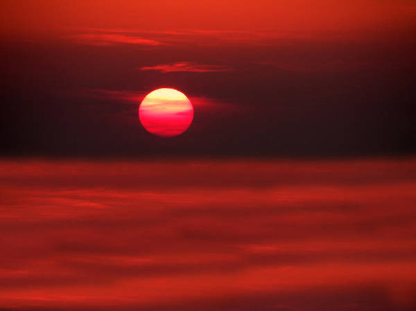 Photograph - Sunset Over The Aegean Sea by Micki Findlay