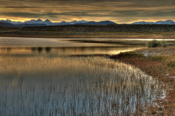 Sierra Nevada Mountain Range Photograph - Sunset Over The Alkali Ponds Near by Bill Wight