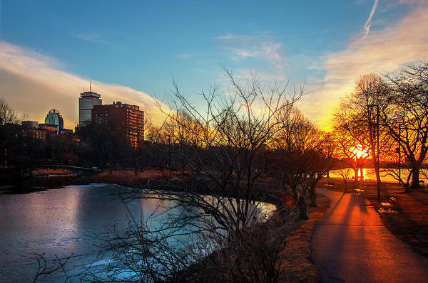 Photograph - Sunset Over The Charles River Esplanade by Joann Vitali