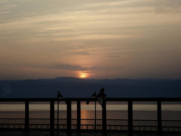 Wall Art - Photograph - Sunset Over The Dead Sea by Ginger Repke