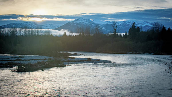 Photograph - Sunset Over The Kitimat River by Mark Duehmig