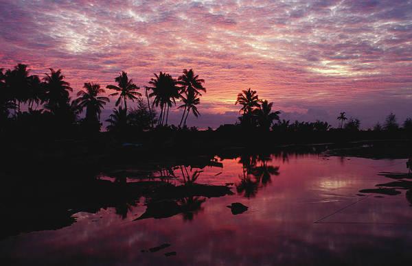 Photograph - Sunset Over The Lagoon - Merang by Richard I'anson
