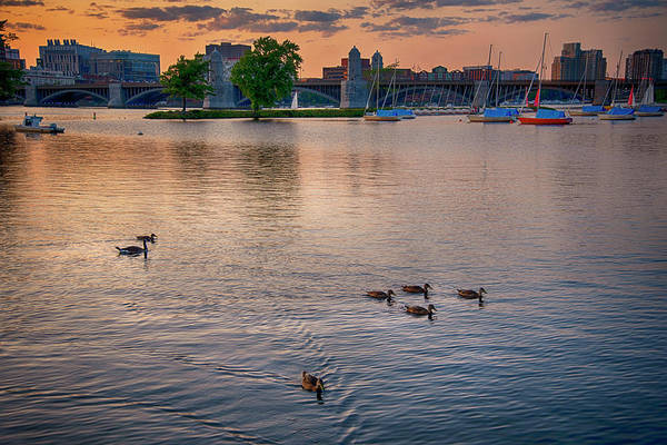 Photograph - Sunset Over The Longfellow And The Charles by Joann Vitali
