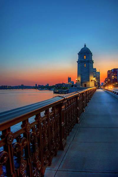 Photograph - Sunset Over The Longfellow Bridge by Joann Vitali
