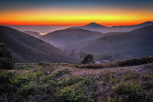 Photograph - Sunset Over The Marin Headlands by Kristen Wilkinson