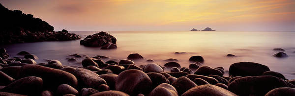 Wall Art - Photograph - Sunset Over The Ocean, Porth Nanven by Panoramic Images