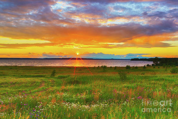 Wall Art - Photograph - Sunset Over The River Kama by MotHaiBaPhoto Prints
