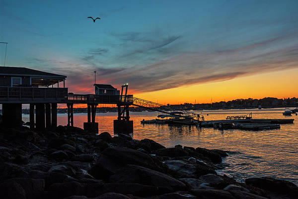 Photograph - Sunset Over The Salem Yacht Club Salem Willows Ma by Toby McGuire