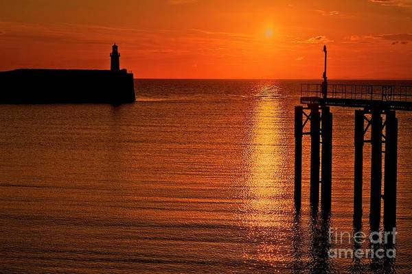 Photograph - Sunset Over The Sea by Martyn Arnold