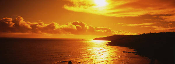 Wall Art - Photograph - Sunset Over The Sea, Maui, Maui County by Panoramic Images
