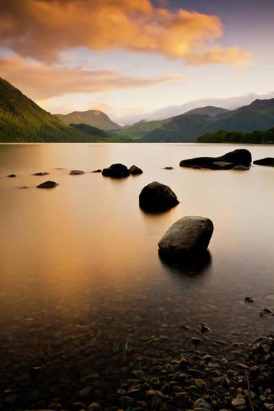Ullswater Photograph - Sunset Over Ullswater Lake by John Ormerod