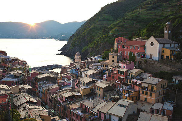 Vernazza Photograph - Sunset Over Vernazza by Licensed By Kelven Ng