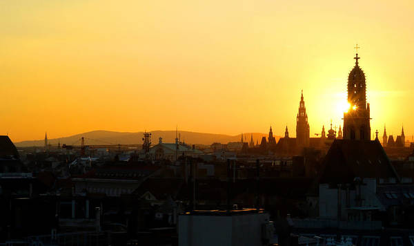 Photograph - Sunset Over Vienna by Jonny Jelinek