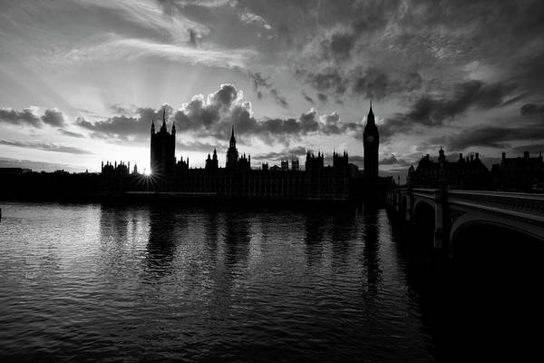 Victoria Tower Wall Art - Photograph - Sunset Over Westminster by Simonbradfield