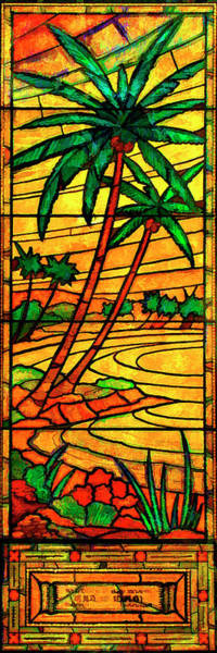 Digital Art - Sunset Palms by Rick Wicker