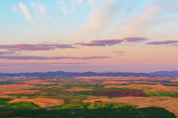 Digital Art - Sunset Palouse Hills Of Wheat Land by Michael Lee