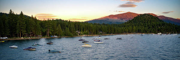 Wall Art - Photograph - Sunset Panorama Marla Bay Lake Tahoe by Ants Drone Photography